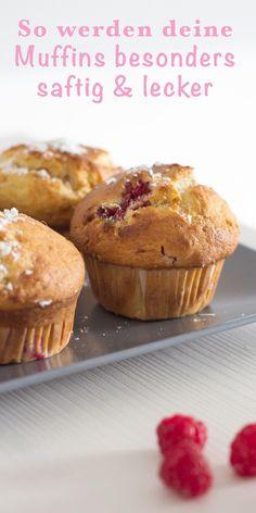 Aufgepasst, durch die zwei besondere Zutaten werden deine Muffins besonders saftig und lecker. Probiere es aus!