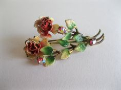 1950s Made In Austria pin makes a lovely boutonniere for your groom. #vintage #jewelry #Boutonniere #pastel #1950s @Etsy