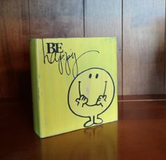 Be Happy~Rustic hand painted wood block by CherryCreekCrafts on Etsy ... Thank you Valerie!!