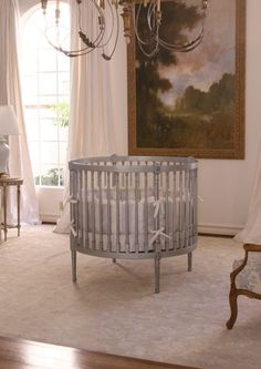 Ellery Round Crib & Mattress Nursery Inspiration Cribs