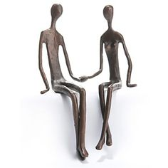 Richard Mishaan Handcrafted Sculpture - Couple Sitting at HSN.com.
