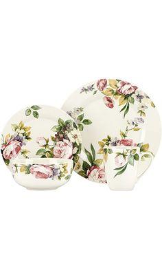 Gorham Kathy Ireland Georgian Estate 16-Piece Dinnerware Set Best Price  sc 1 st  Pinterest & Spring Bouquet Dinnerware by Kathy Ireland | Dishes | Pinterest ...