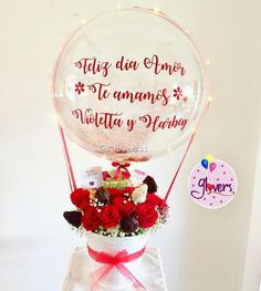 Balloon Ideas, Balloon Decorations, Air Balloon, Clear Balloons, Chocolate Gifts, Snow Globes, Instagram, Photo And Video, Diy Boyfriend Gifts