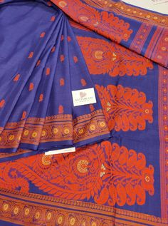 Blue Color Hand Woven Cotton Saree With Thread motif All Over. cost 3800 inr Woven Cotton, Cotton Silk, Whatsapp Messenger, Cotton Saree, Alexander Mcqueen Scarf, Hand Weaving, Blue, Color, Fashion