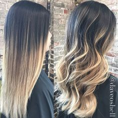 adba6052d FALL INTO BALAYAGE Dave Oshell shares a flawless balayage color transition  and cut, recently completed on a client. Straight or wavy…she'll have  multiple ...