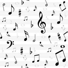 Baumwolldruck Noten auf Zeilen weiß schwarz für Stoffmasken für Jungs-Mädchen- Frauen und Männer Musiknoten