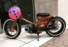 Lee Johnston's customised Honda C90