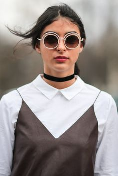 Quirky eye wear really adds to an outfit.