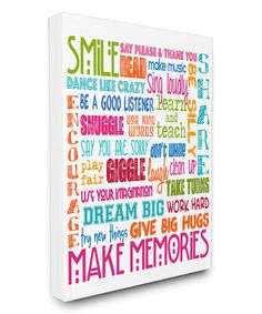 Look what I found on #zulily! 'Make Memories' Wrapped Canvas by The Kids Room by Stupell #zulilyfinds