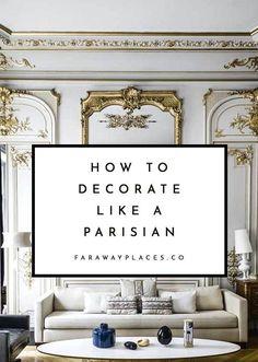 Parisian Room, Parisian Decor, Parisian Style Bedrooms, French Apartment, Parisian Apartment, Paris Apartments, French Living Rooms, French Interior Design, Aesthetic Bedroom