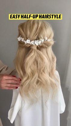 Work Hairstyles, Easy Hairstyles For Long Hair, Pretty Hairstyles, Blonde Wedding Hairstyles, Bridesmaids Hairstyles, Wedding Hairstyles Tutorial, Simple Wedding Hairstyles, Hairstyle Tutorials, Braid Hairstyles