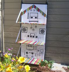 Folding Fabric Doll House.  How cute and brilliant is this?  Love it!