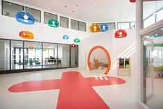 Childcare Center Big Toy Box A+ Architecture 4 Facade Architecture, School Architecture, Big Toy Box, Nursery Layout, Design Research, Environmental Graphics, School Fun, Pre School, Toy Boxes