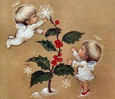 """Little Christmas Thoughts"" . Christmas Clipart, Little Christmas, Christmas Printables, Christmas Wishes, Christmas Angels, Christmas Art, Winter Christmas, Vintage Christmas Images, Vintage Holiday"