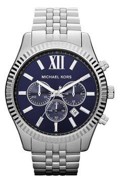 Michael Kors #blue faced watch http://rstyle.me/n/mc5fvr9te