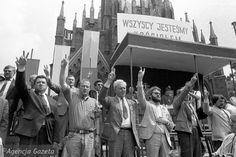 Piekary Śląskie, Adam Michnik i Lech Wałęsa, 28.05.1989