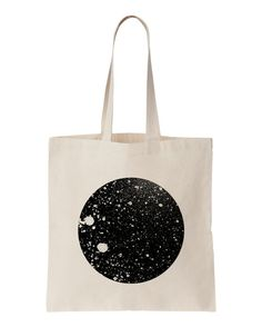 Moon / Screen printed tote bag por oelwein en Etsy