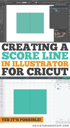 How to Create a Score Line in Illustrator for Cricut Projects - Hey, Let's Make Stuff Illustrator Tutorials, Adobe Illustrator, Cricut Tutorials, Cricut Ideas, Red Images, Iron On Vinyl, Rose Design, Easy Projects, Svg Files For Cricut