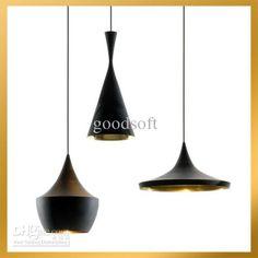 Cheap Tom Dixon Pendant Lamp - Best Tom Dixon Beat Light Tall Fat Wide 3 Lamps Black White Aluminum Pendant Lamp Chandelier Online with $52....