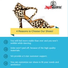 4 Reasons to choose our shoes! #salsa #dancing #shoes