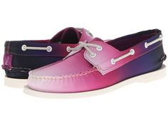 Sperry Top-Sider A/O 2 Eye Purple Canvas Ombre - 6pm.com .... Why don't they have my size?!