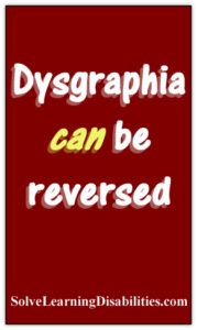 Dysgraphia - www.SolveLearningDisabilities.com
