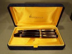Parure stylos WATERMAN IDEAL LE MAN 100 plume roller porte mines RARE 1986 80's | Bijoux, montres, Stylos | eBay!