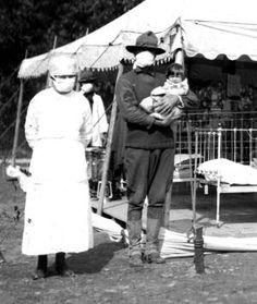 Field hospital during 1918 flu epidemic.