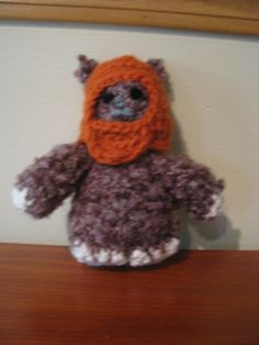 Ewok sponge stuffed toy Ewok, Stuffed Toy, Beanie, Toys, Crochet, Activity Toys, Beanies, Knit Crochet, Crocheting