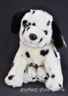 Dalmatian Dog Plush Stuffed Animal TY Bean Buddy Puppy Dog Dotty Spot NWT