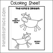 Printable Craft for Pharaoh's Dreams www