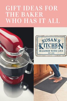 We all have a baker in our lives and sometimes finding the right gift might be difficult. Let me make your life easier with a list of great gift ideas for the baker who has it all! Holiday Gift Guide, Holiday Gifts, Vintage Kitchen Signs, Unique Gifts, Best Gifts, Expensive Gifts, New Tricks, Gifts For Mom, Fun Gifts
