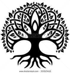 Vector ornament, decorative Celtic tree of life - compre este vetor na Shutterstock e encontre outras imagens. Celtic Symbols, Celtic Art, Tree Of Life Logo, Celtic Tree Tattoos, Tattoo Tree, Decorative Metal Screen, Art Noir, Mandala, Celtic Tree Of Life