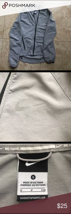 Nike Jacket Nike running jacket! Windbreaker material. Great condition worn once! Nike Other