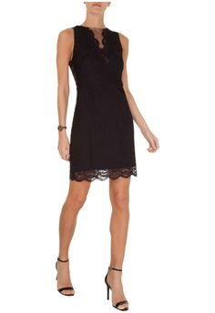 ANIMALE - Vestido renda tule Animale - preto - OQVestir