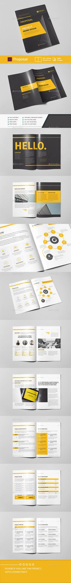 Proposal Template InDesign INDD #design Download: http://graphicriver.net/item/proposal/14472424?ref=ksioks