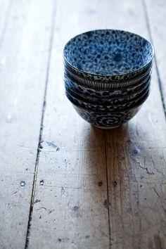 Japanese Blue & White Bowls | Jo Ellen Designs, Camden, Maine