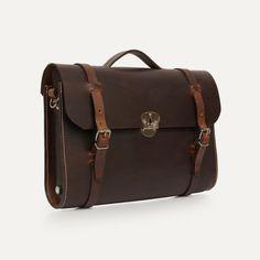 Bleu de Chauffe | Men | Leather satchel bag | Scott, The Writer's bag | Sac cuir homme Made in France