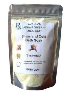 Aromatherapy Sinus and Cold bath soak by BodyLuv on Etsy, $10.00