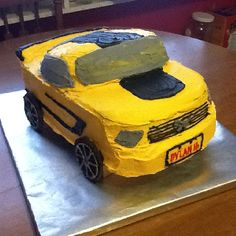 Friend's son's 16th birthday Mustang cake