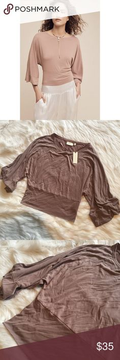 "{Anthro} NWT Deletta 'Wandertrail Dolman Top' New with tags. Approx length laid flat 22"". No Trades / No PayPal /  Smoke-Free Home / Ask Questions! / No Model Requests Please / Like what you see but dont like the price? MAKE ME AN OFFER! Anthropologie Tops Blouses"