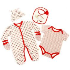 Just Too Cute hat sleepsuit Heart Baby Girls Quilted Layette Set bib