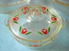 Pyrex* Tulip Covered Casserole :) | Flickr - Photo Sharing!