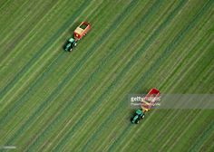 Tractors cutting grass, Groningen City, Netherlands - photo by  Powerfocusfotografie / Getty Images