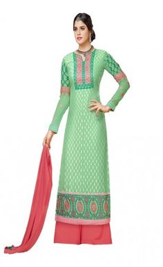 Honey Bunny Kashish Brasso With American Plazo Work Straight Cut Suit