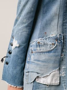 Love Jeans, Jeans Style, Denim Ideas, Recycle Jeans, Denim Coat, Recycled Denim, Denim Fashion, Textiles, Clothes