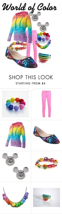 """""""World Of color"""" by lambrightness ❤ liked on Polyvore featuring Ichi and Fiebiger"""