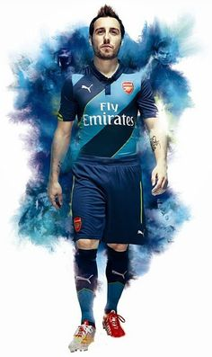 Santi Cazorla - Arsenal - Puma Kit 2014-15. Rugby, Water Projection, Arsenal Kit, Chelsea, Creative Review, Web Inspiration, Football Kits, Wetsuit, Martial