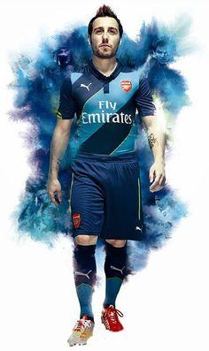 Santi Cazorla - Arsenal - Puma Kit 2014-15.