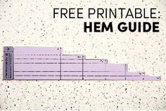 Free Hem Guide Printable